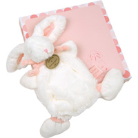 Doudou rose lapin bonbon