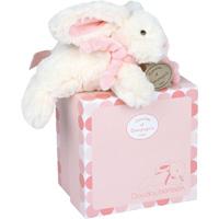 Peluche bébé lapin bonbon 20 cm rose