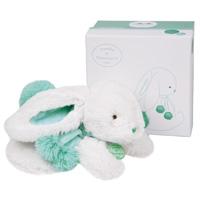 Peluche bébé lapin pompon 25 cm amande