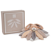 Doudou collector lapin taupe