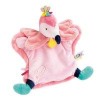 Jouet d'éveil bébé marionnette flamant rose