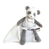 Peluche bébé pantin avec doudou panda attrape-rêve