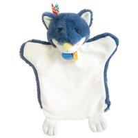 Jouet d'éveil bébé marionnette loup bleu