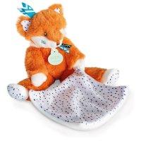 Peluche bébé pantin avec doudou renard