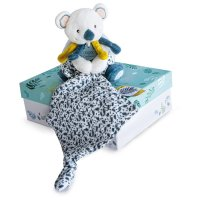 Peluche bébé pantin avec doudou yoca le koala