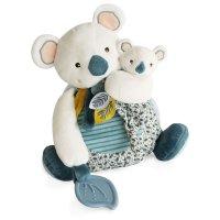 Peluche bébé pantin yoca le koala avec bébé + anneau de dentition