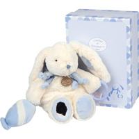 Peluche bébé pantin d'activités lapin bonbon bleu