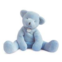 Peluche bébé pantin ours bleu