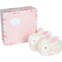 Coffret chaussons rose lapin bonbon