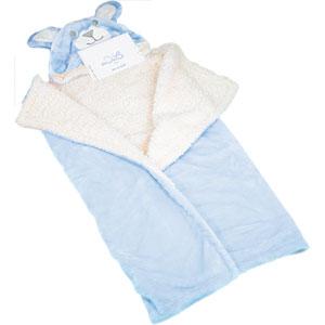 Couverture lit bébé nid douillet bleu