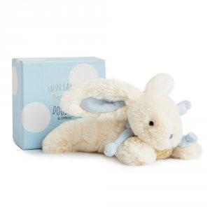 Peluche bébé lapin bonbon 20 cm bleu