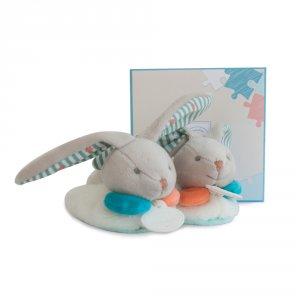 Chaussons bébé avec hochet 6 - 12 mois lapin happy
