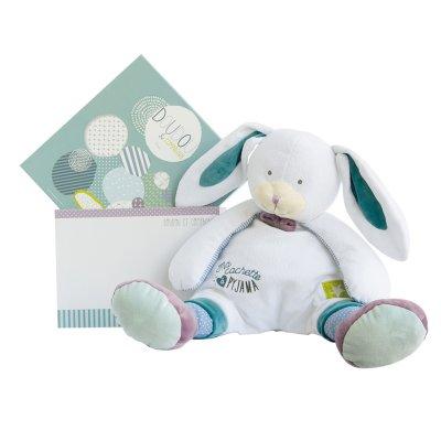 Range pyjama lapin blanc les ptitous Doudou et compagnie