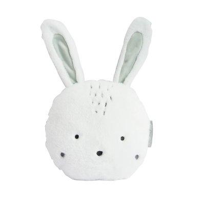 Coussin déco lapin aussi doux Doudou et compagnie