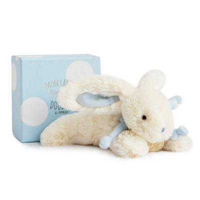 Peluche bébé lapin bonbon 20 cm bleu Doudou et compagnie