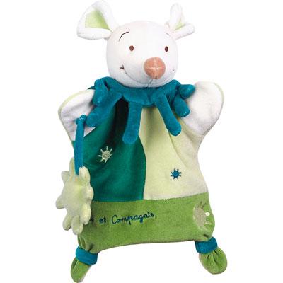 Jouet d'éveil bébé marionnette souris verte Doudou et compagnie