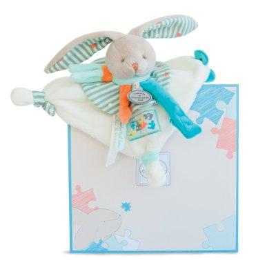 Doudou attache sucette lapin happy Doudou et compagnie