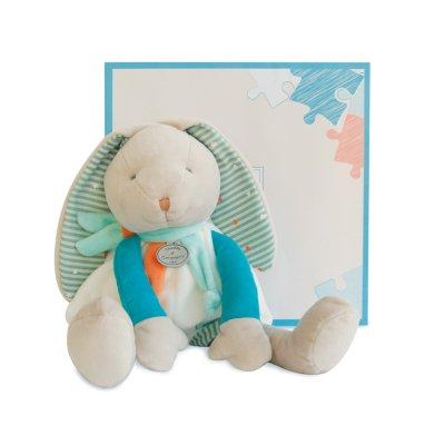 Peluche bébé pantin lapin happy Doudou et compagnie