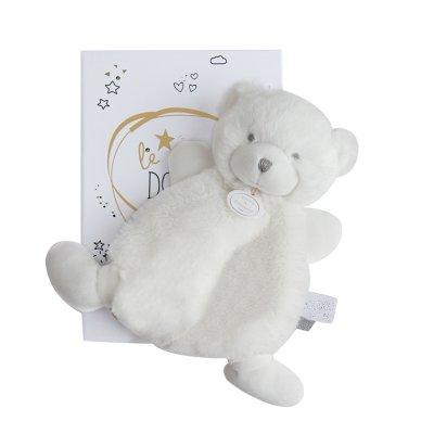 Doudou ours blanc boite led Doudou et compagnie