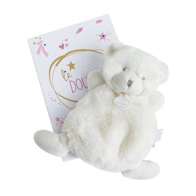 Doudou ours rose boite led Doudou et compagnie