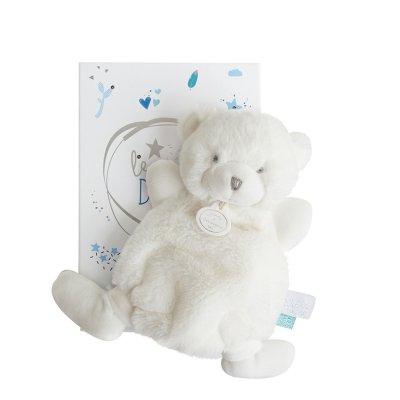 Doudou ours boite led bleu Doudou et compagnie