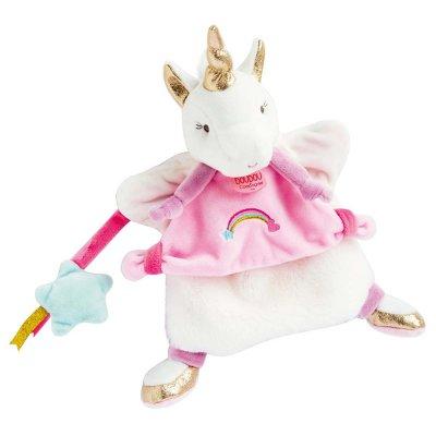 Jouet d'éveil bébé marionnette licorne Doudou et compagnie