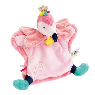 Jouet d'éveil bébé marionnette flamant rose Doudou et compagnie