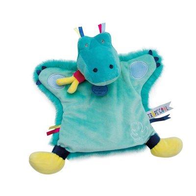 Jouet d'éveil bébé marionnette croco Doudou et compagnie