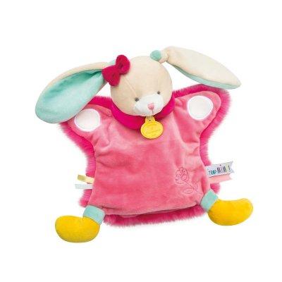 Jouet d'éveil bébé marionnette lapin Doudou et compagnie