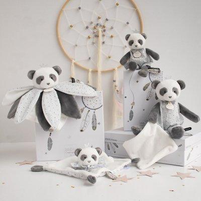 Peluche bébé pantin avec doudou panda attrape-rêve Doudou et compagnie