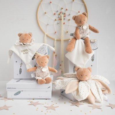 Peluche bébé pantin avec doudou ours attrape-rêve Doudou et compagnie