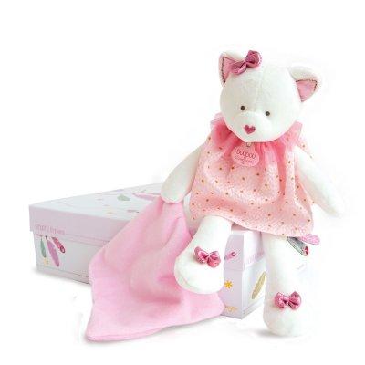 Peluche bébé pantin avec doudou chat attrape-rêve Doudou et compagnie