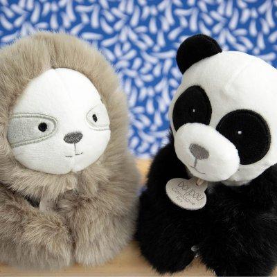 Jouet d'éveil bébé marionnette panda Doudou et compagnie