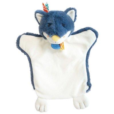 Jouet d'éveil bébé marionnette loup bleu Doudou et compagnie