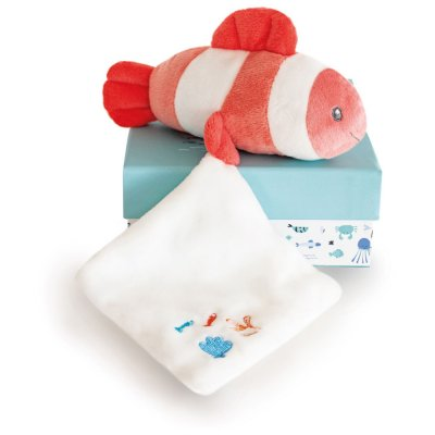 Peluche bébé pantin poisson mignon avec doudou corail Doudou et compagnie