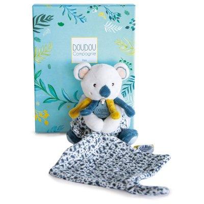 Peluche bébé pantin avec doudou yoca le koala Doudou et compagnie