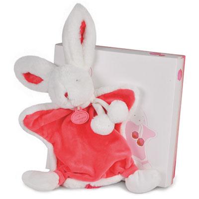 Doudou lapin pompon fraise Doudou et compagnie