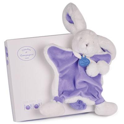 Doudou lapin pompon lavande Doudou et compagnie