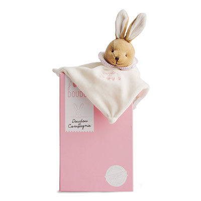 Doudou l'original 202 lapin rose Doudou et compagnie