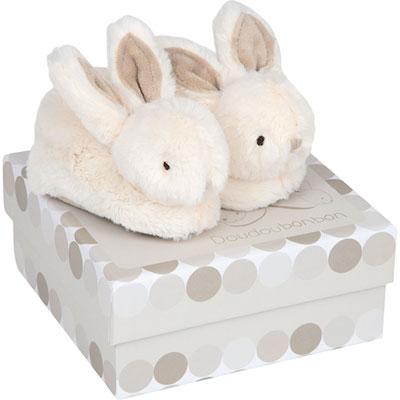 Coffret chaussons bébé taupe lapin bonbon Doudou et compagnie