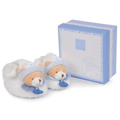 Chaussons bébé avec hochet 6 - 12 mois petit chou Doudou et compagnie