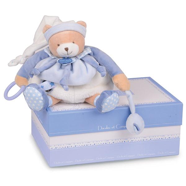Peluche bébé pantin d'activités ours petit chou Doudou et compagnie