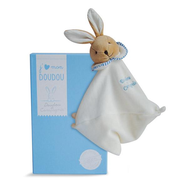 Doudou l'original 202 lapin bleu Doudou et compagnie