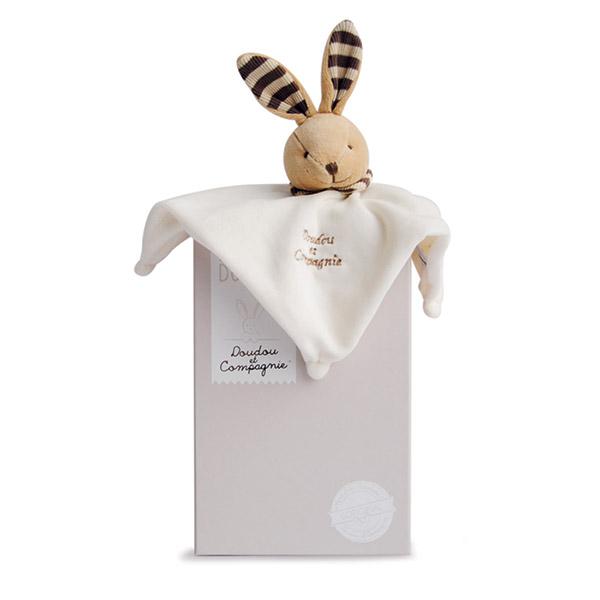 Doudou l'original 202 lapin taupe Doudou et compagnie