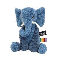 Peluche bébé éléphant bleu les ptipotos