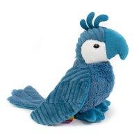 Peluche bébé perroquet bleu les ptipotos