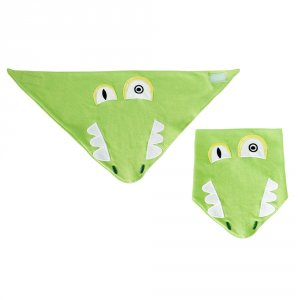 Bavoir bandana l'alligator aligatos