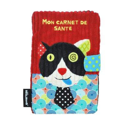 Protège carnet de santé le chat charlos Les deglingos