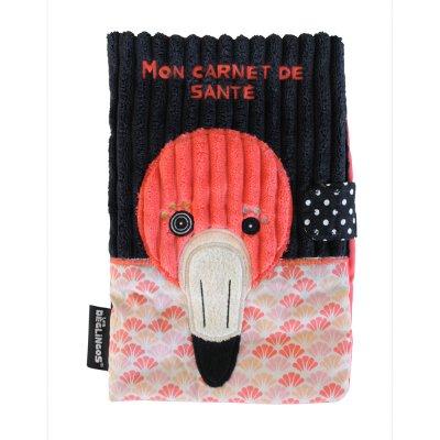 Protège carnet de santé le flamant flamingos Les deglingos