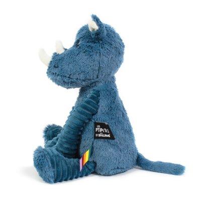 Peluche bébé rhino bleu les ptipotos Les deglingos